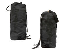 Army Military Canvas Waterproof Duffle Bag Surplus Bag Backpack Navy Black Large