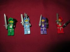 LEGO Castle  Minifigures LOT Knights, RED, PURPLE,GREEN,BLUE, ARMOR,WEAPONS