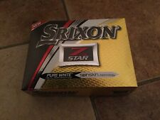 Srixon Z Star Golf Balls 12 Pack Pure White Visual Perfermance