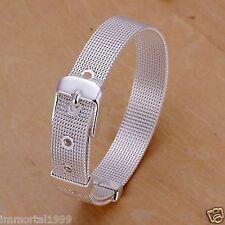 Bracelet Plaqué Argent 925 style ceinture,montre