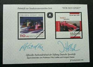 [SJ] Germany Formula 1 One Car Racing 1999 F1 Sport Games (ms) MNH *vignette