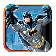 "16 DC Batman Superhero Comic Childrens Birthday Party 7"" Paper Plates"
