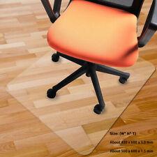 Non Slip Office Chair Desk Mat Floor Computer Carpet Protector PVC  Clear