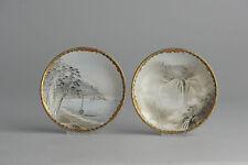 Antique 19/20c Japan Dish Japanese Porcelain Landscape Scene MArked on Base