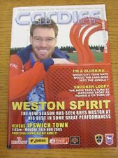 28/11/2005 Cardiff City v Ipswich Town  (the item is in good/very good condition