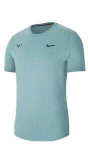 NEW Nike NikeCourt AeroReact Rafa Tennis Shirt Hyper Jade AT4182-317 Size M $100