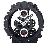 Moving Gear Modern Novelty Desk Designer Clock with Bell Alarm 20%Off