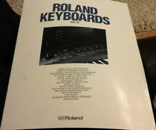 roland keyboards brouchure vol 10 1988 October