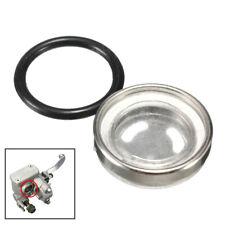 18mm Motorcycle Bike Brake Master Cylinder Reservoir One Sight Glass Len Gasket