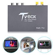 1080P HD DVB-T2 Car Auto Digital TV Box Receiver 2 Antenna Tuners Remote Control