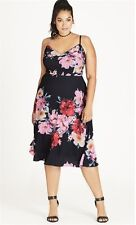 City Chic Cocktail/Party/Occasional Floral Dress Size XS/14-16 RRP$139.95