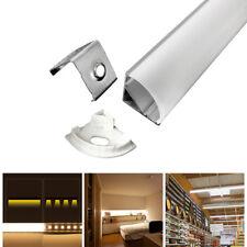 5Sets 0.5M V-Shape Aluminum Case Channel & Milk Cover for LED Rigid Strip HOT