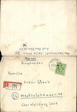 602156,Reko Einschreiben Celle 953 n. Heckholzhausen Weilburg an der Lahn 1945