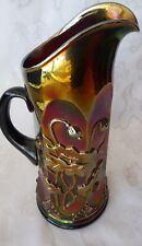 "NORTHWOOD Purple Amethyst Carnival Glass ORIENTAL POPPY 13 5/8 "" TANKARD PITCHER"