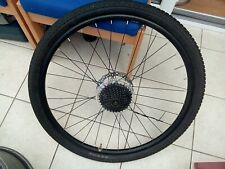 ONE 27.5 REAR WHEEL WITH TYRE AND CASSETTE. DISK BRAKE.