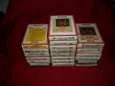 20 - 8 Track Tapes - Country Western/Soft Rock - Mix