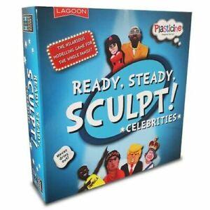 CELEBRITY READY STEADY SCULPT Plasticine Funny Modelling Game Lagoon UK