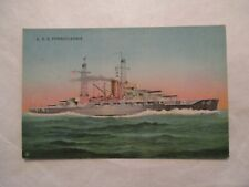 USS Pennsylvania US Military Navy Naval Ship Postcard