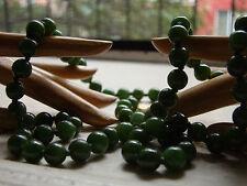 antique 28 inch necklace JADEITE / jade DEEP GREEN translucent w/14k RE-STRUNG!