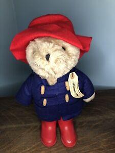 "Vintage Paddington Bear 13"" Stuffed Plush Animal Blue Coat 1975 Eden NWT"