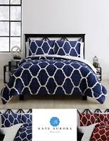 Ultra Plush Sherpa Trellis Mink Comforter & Pillow Case Set - Assorted Sizes