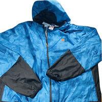 Mens Russell Long Sleeve Light Weight Hooded Windbreaker Jacket Blue Size XL