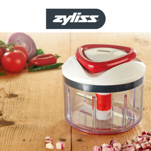 Zyliss Easy Pull Manual Food Processor Chopper Blender Puree Mixer Redl