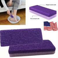 US Foot Pumice Sponge Callus Exfoliate Stone Hard Skin Remove Pedicure Scrubber