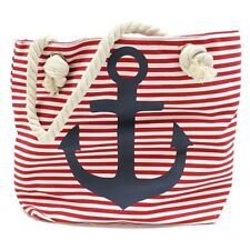 Red or Blue Anchor - Large Shopping / Beach Nautical Bag with Rope Handles