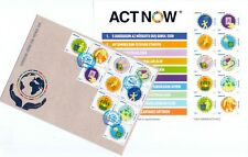 UNITED NATIONS  ACT NOW ACTNOW CAMPAIGN Azerbaijan stamps & FDC 2020 Azermarka