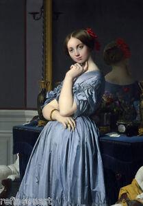 Jean-Auguste-Dominique Ingres Comtesse d Haussonville Giclee Canvas Print