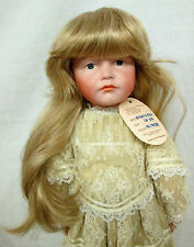 "Global Doll Wig ""Samantha"" 13-14 Blonde - Long Straight w/ Slight Wave & Bangs"