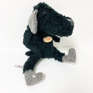 "Sigikid Germany Beasts Town Black Mad Dog Red Eyes Plush Stuffed Animal RARE 15"""