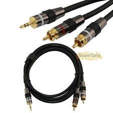 5ft 3.5mm AUX Stereo Male to 2RCA Male plug OFC Audio Adapter Cable for Mp3/ipod
