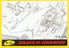 2017 TOPPS MARS ATTACKS YELLOW #/199 SUBJECTS OF EXPERIMENTS P-14
