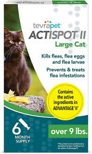 TevraPet Actispot Ii Flea And Tick Prevention For Cats- 6 Doses
