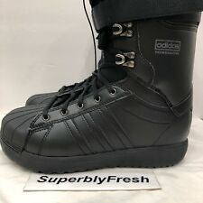 NEW Adidas Superstar ADV — Mens Sz 9 Snowboard Boots — Triple Black BW0991 RARE