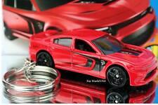 Custom Key Chain 2015 Dodge Charger SRT Hellcat red