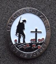 """""""LEST WE FORGET REMEMBER """"THE FALLEN POPPY"""" REMEMBRANCE ENAMEL PIN BADGE BROOCH"""