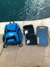 Speedo Teamster 35L Blue Black Swim Backpack Bag Excellent Pre-owned Condition