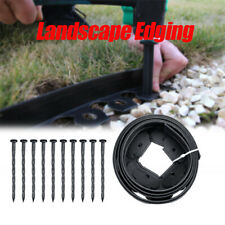 Garden Flexible Lawn Grass Plastic Edging Border, 3meters+10 extra strong