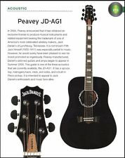 The Peavey Jack Daniel's JD-AG1 acoustic + JD EXP electric guitar 6 x 8 article