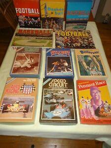 Lot of 11 Avalon Hill Vintage Sports Board Games Baseball Basketball Football Ra