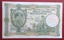 Belgique -  Très  Joli Billet de  1000  FRANCS  du  07-08-1941
