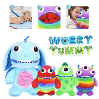 WORRY YUMMY MONSTER CUDDLY TOY SUPER SOFT DELUXE ZIPPER MOUTH EATS FEARS WORRIES