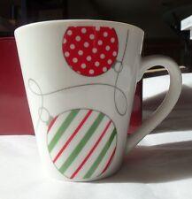 4 Piece Contemporary Christmas Ornaments Porcelain Coffee Cocoa Tea Cup Mug Set