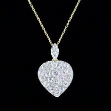 DIAMOND HEART PENDANT CHAIN 2.50CT DIAMONDS 18CT YELLOW GOLD