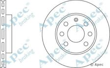 1x OE Quality Replacement Front Axle Apec Vented Brake Disc 4 Stud 240mm Single