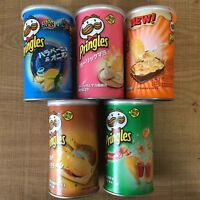 Pringles Short Bottle, Japan Limited, Smoked Cheese, Gyudon Beef Bowl, Ramen etc