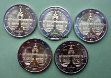 Deutschland 5 x 2 Euro Gedenkmünzen 2016 Sachsen commemorative coins A,D,F,G,J